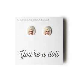Dolly Parton's Face Earrings