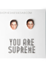 Ruth Bader Ginsburg's Face Earrings