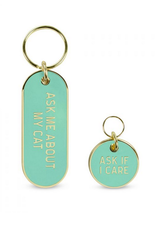 Ask About My Cat Keychain & Pet Tag
