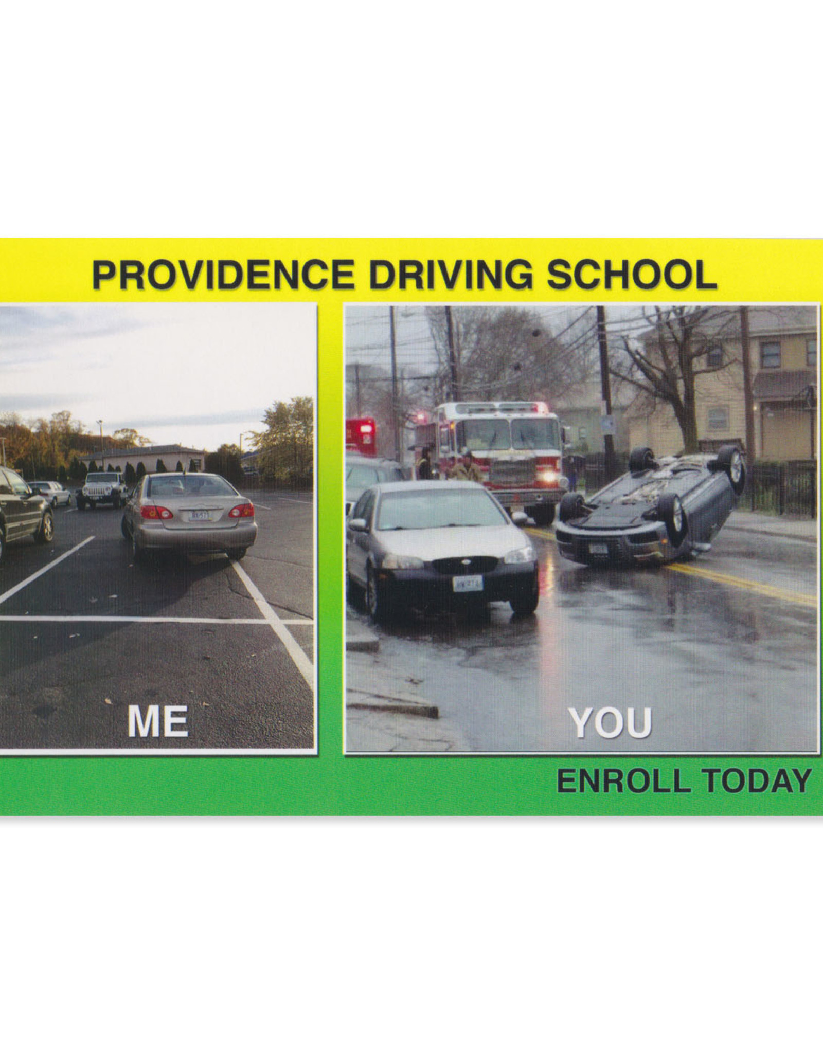 Providence Driving School Postcard