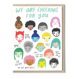 We Are Cheering For You Greeting Card