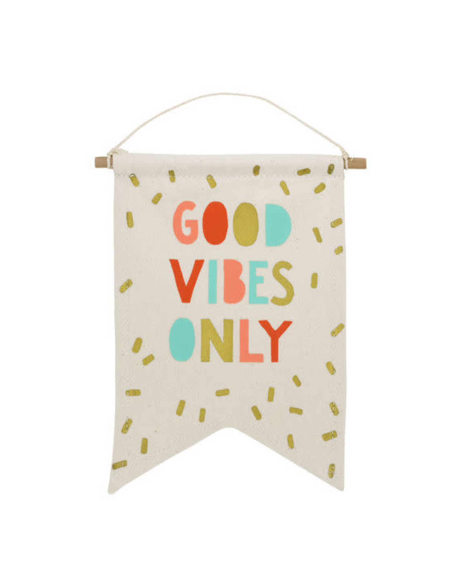 Good Vibes Banner (Multi/Cream)