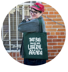This Bag Holds My Liberal Agenda Tote Bag