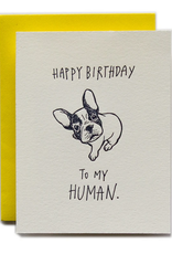 Happy Birthday to My Human (Dog) Greeting Card