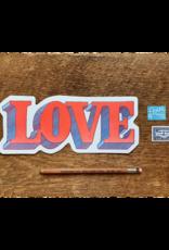 Love Die Cut Postcard