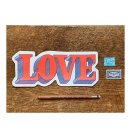 Love Die Cut Postcard