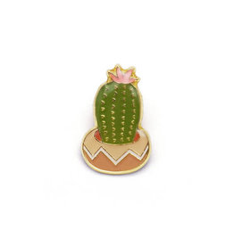 Flowering Cactus Enamel Pin