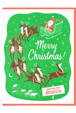Santa and Reindeer Providence Boxed Card Set of 6