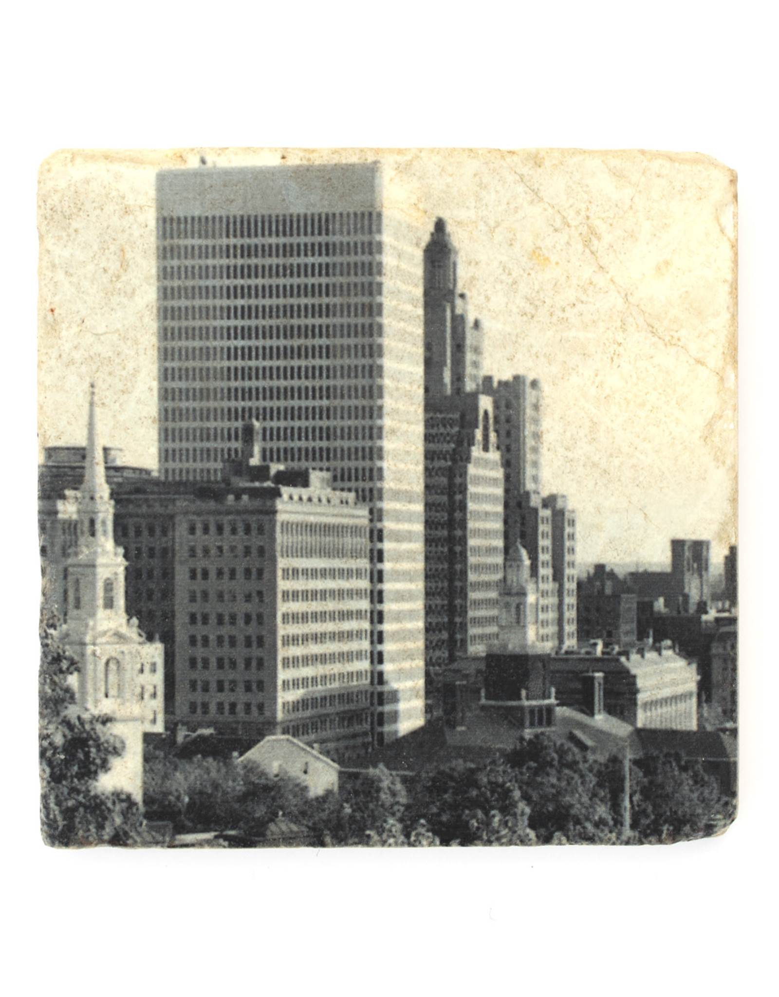 Providence Skyline Coaster (Black/White)