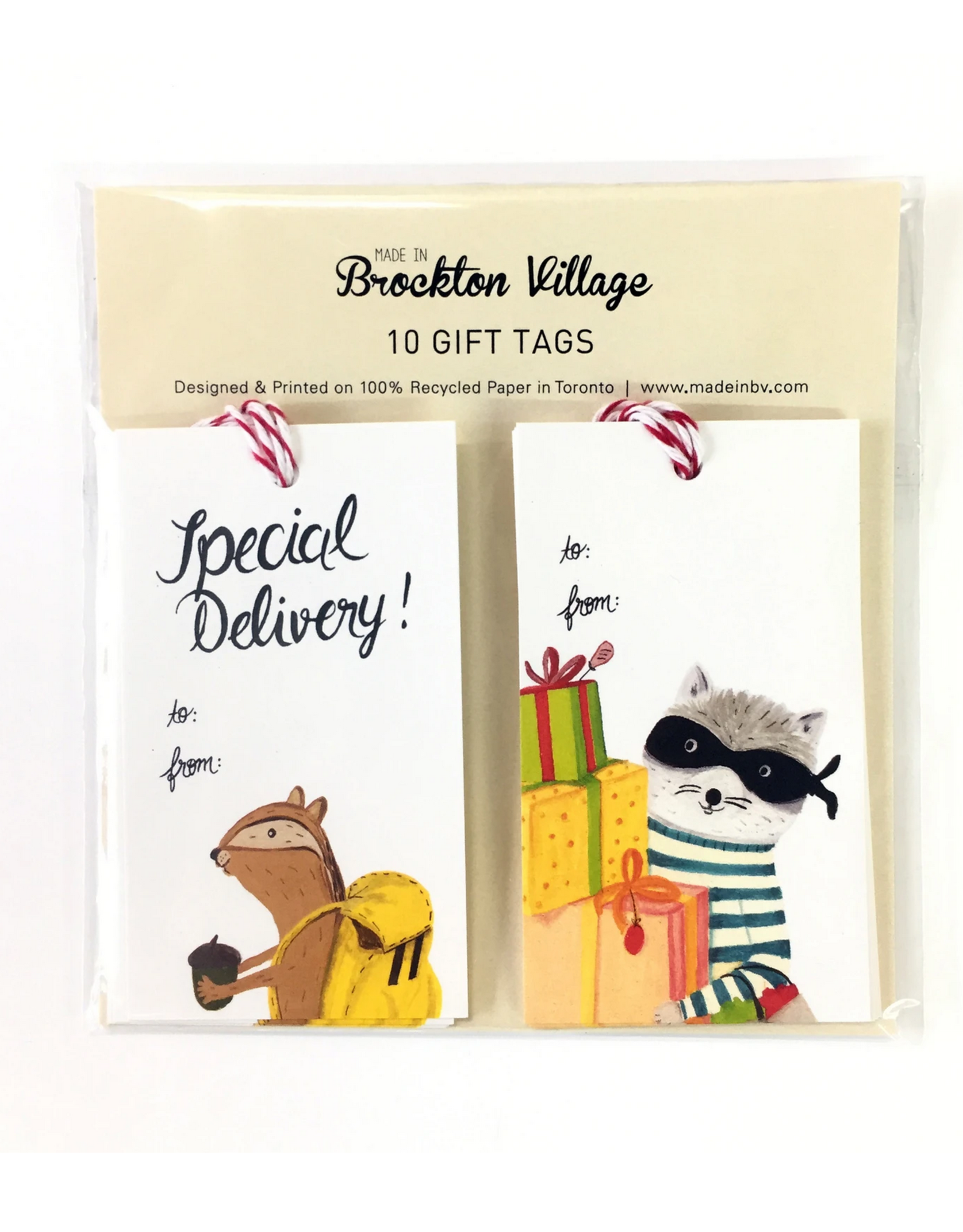 Gift Tag Set : Special Delivery Chipmunk