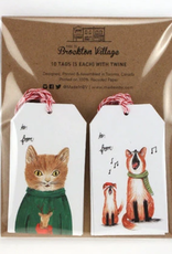 Gift Tag Set : Cat & Foxes