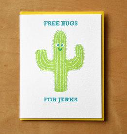 Free Hugs for Jerks Cactus Greeting Card