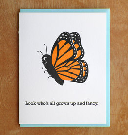 Grown Up and Fancy Greeting Card