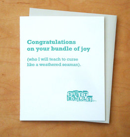 Swearing Baby Lessons Greeting Card
