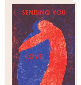 Sending You Love Hug Greeting Card
