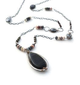 Cat's Eye Opal Pendant Necklace