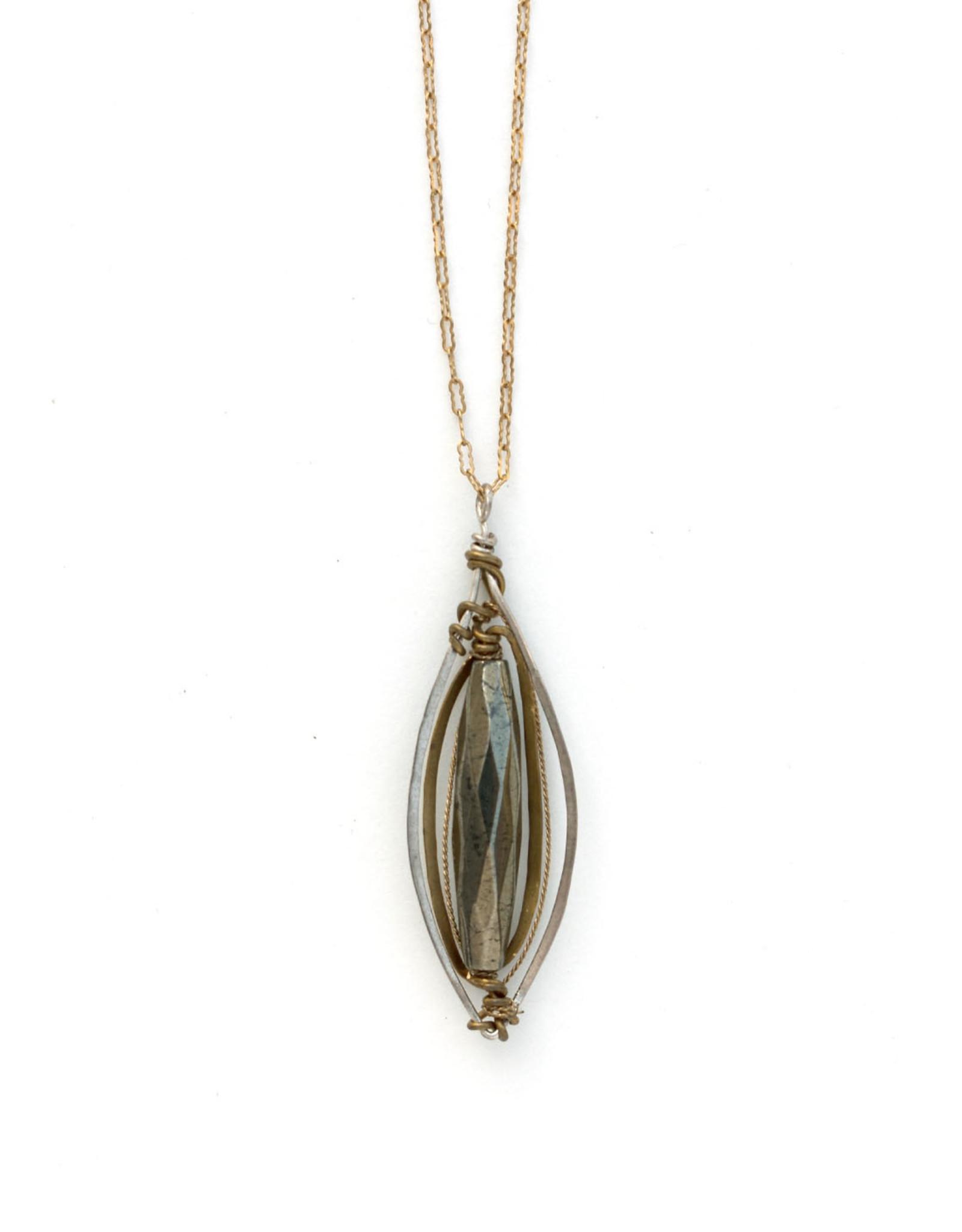 Hemetite Marquise Necklace