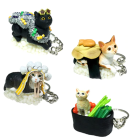 Sushi Cat Keychain Blind Box (Version 3)