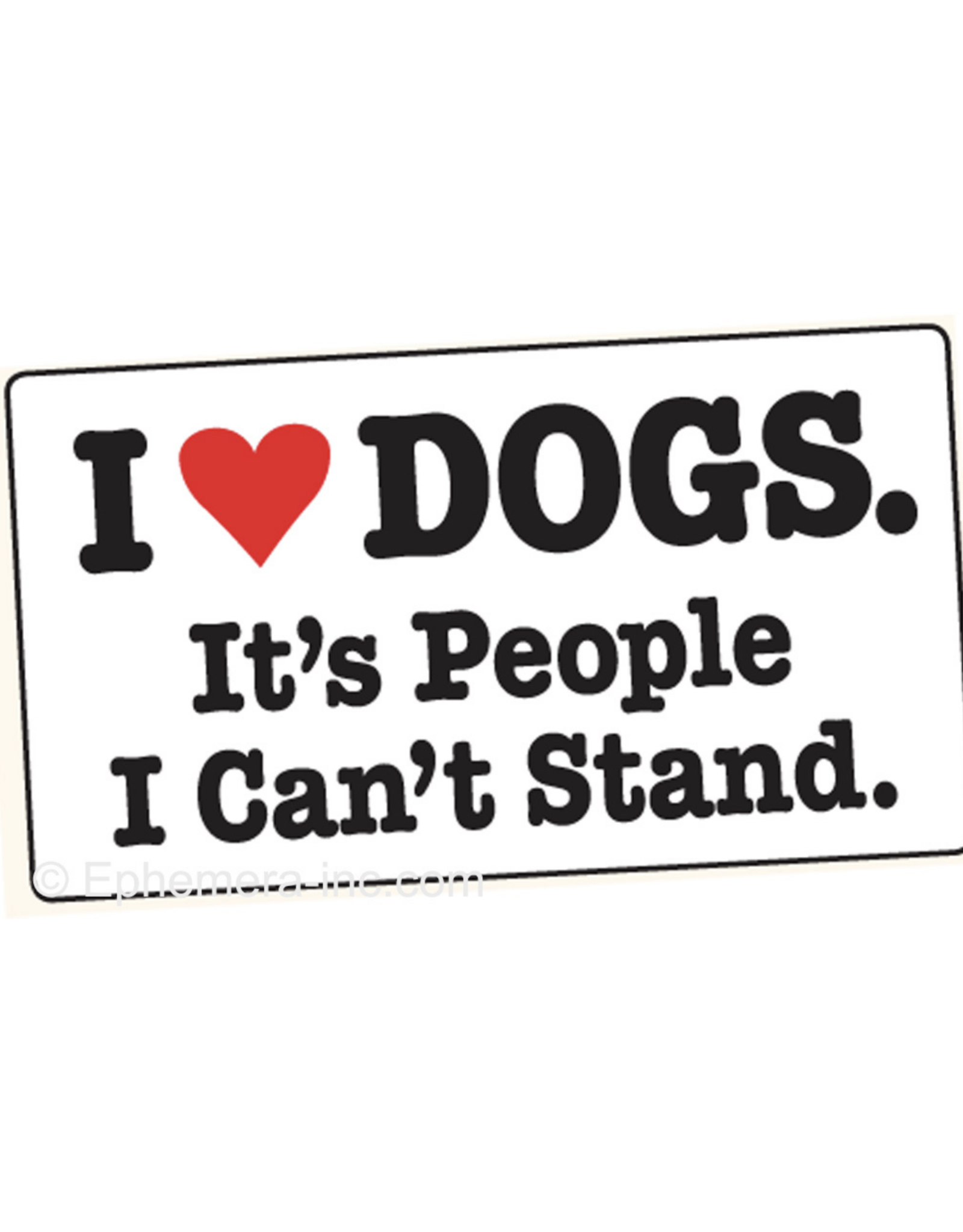 I (heart) Dogs. It's People I Can't Stand.