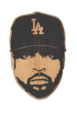Ice Cube Wooden Magnet