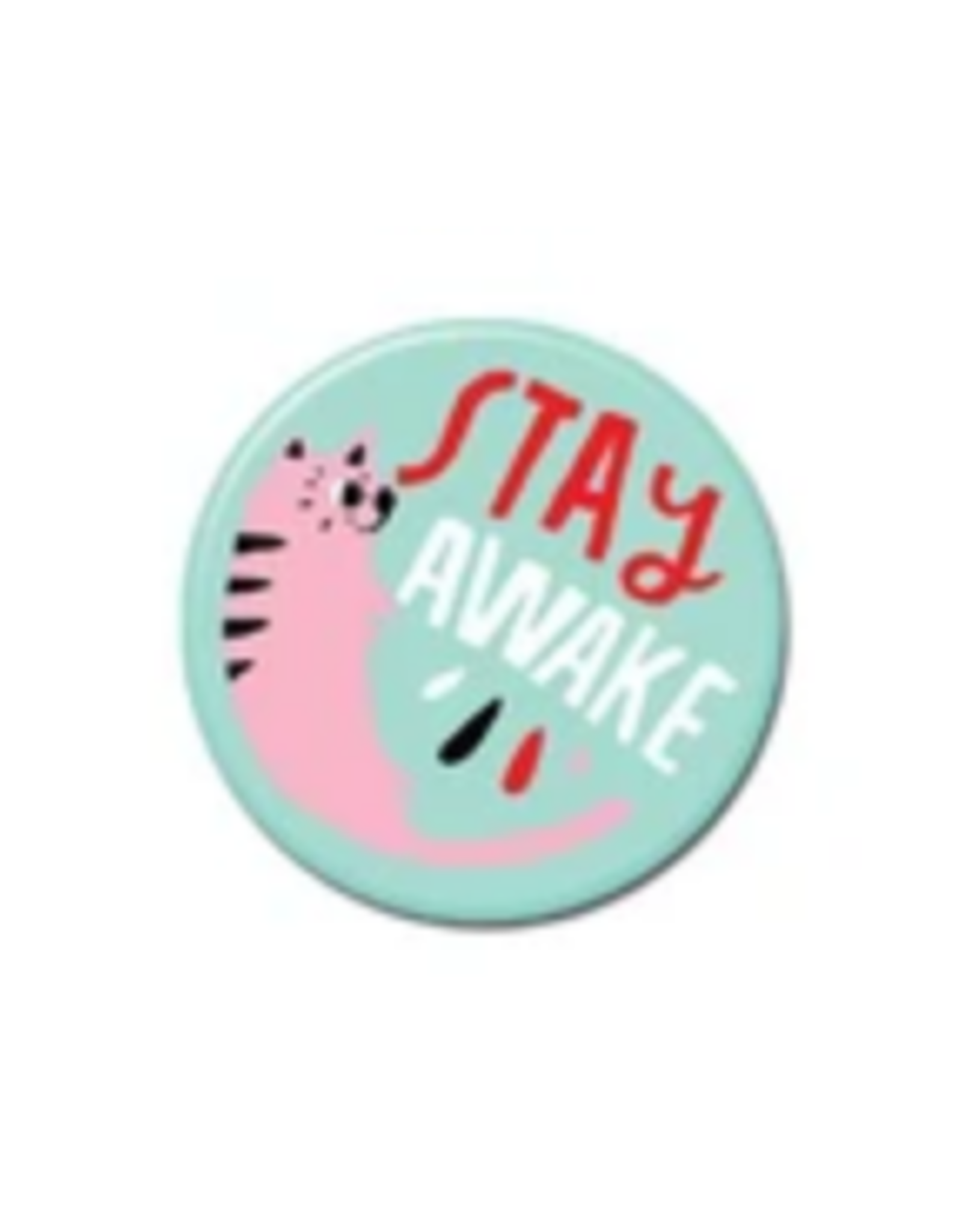 Stay Awake Cat Button