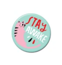 Stay Awake Cat Button