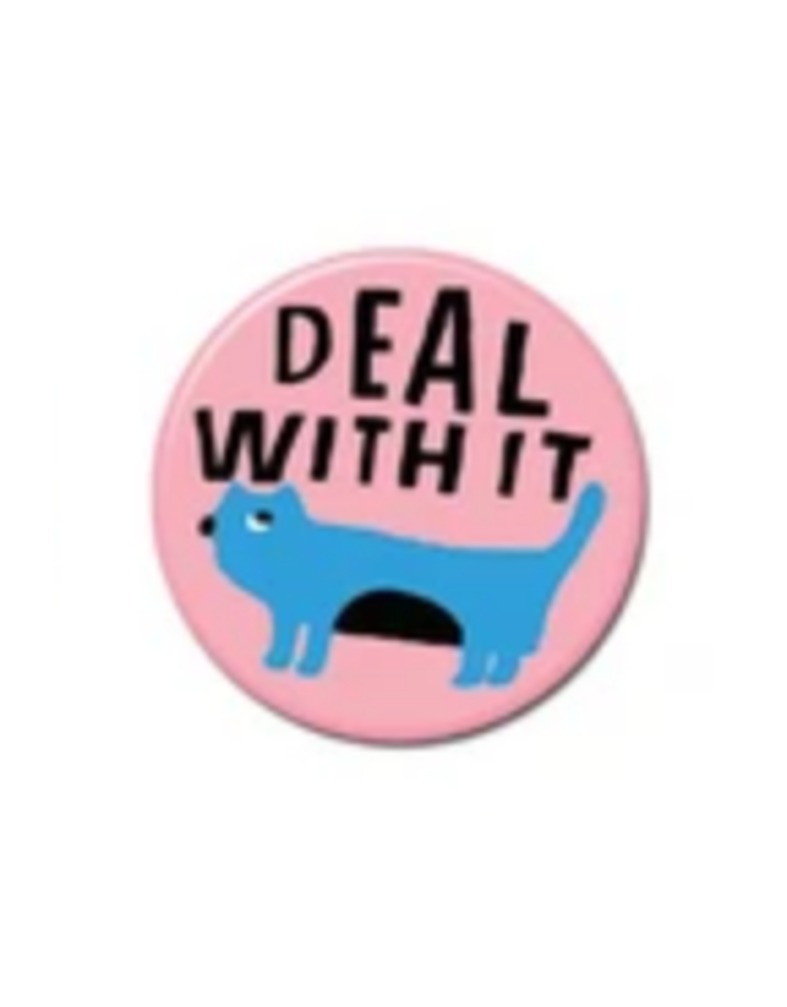 Deal With It Cat Button