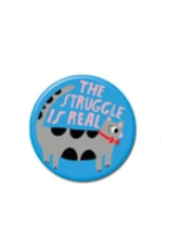 The Struggle is Real Cat Button