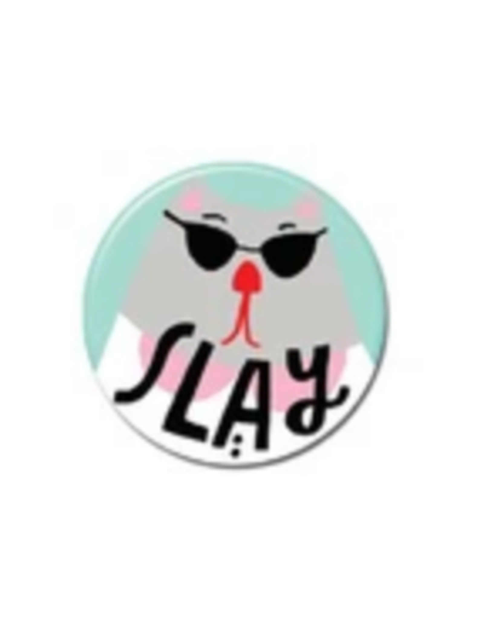 Slay Cat Button