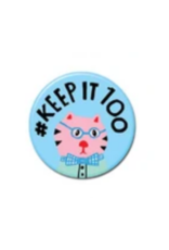 Keep It 100 Cat Button