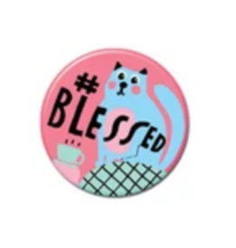 #Blessed Cat Mermaid Button