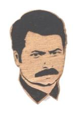 Nick Offerman Wooden Magnet