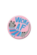 Woke AF Cat Button