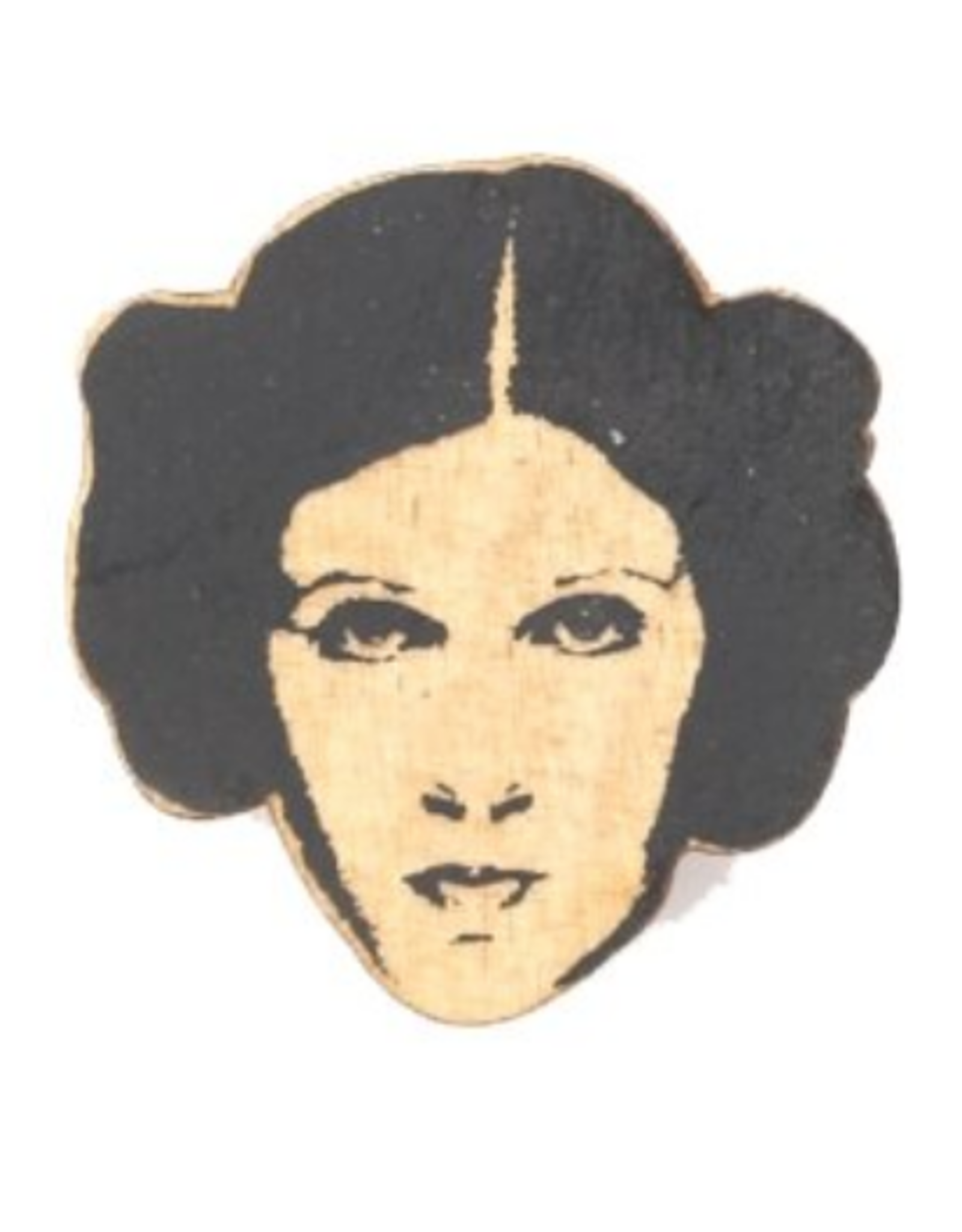 Carrie Fisher Wooden Magnet
