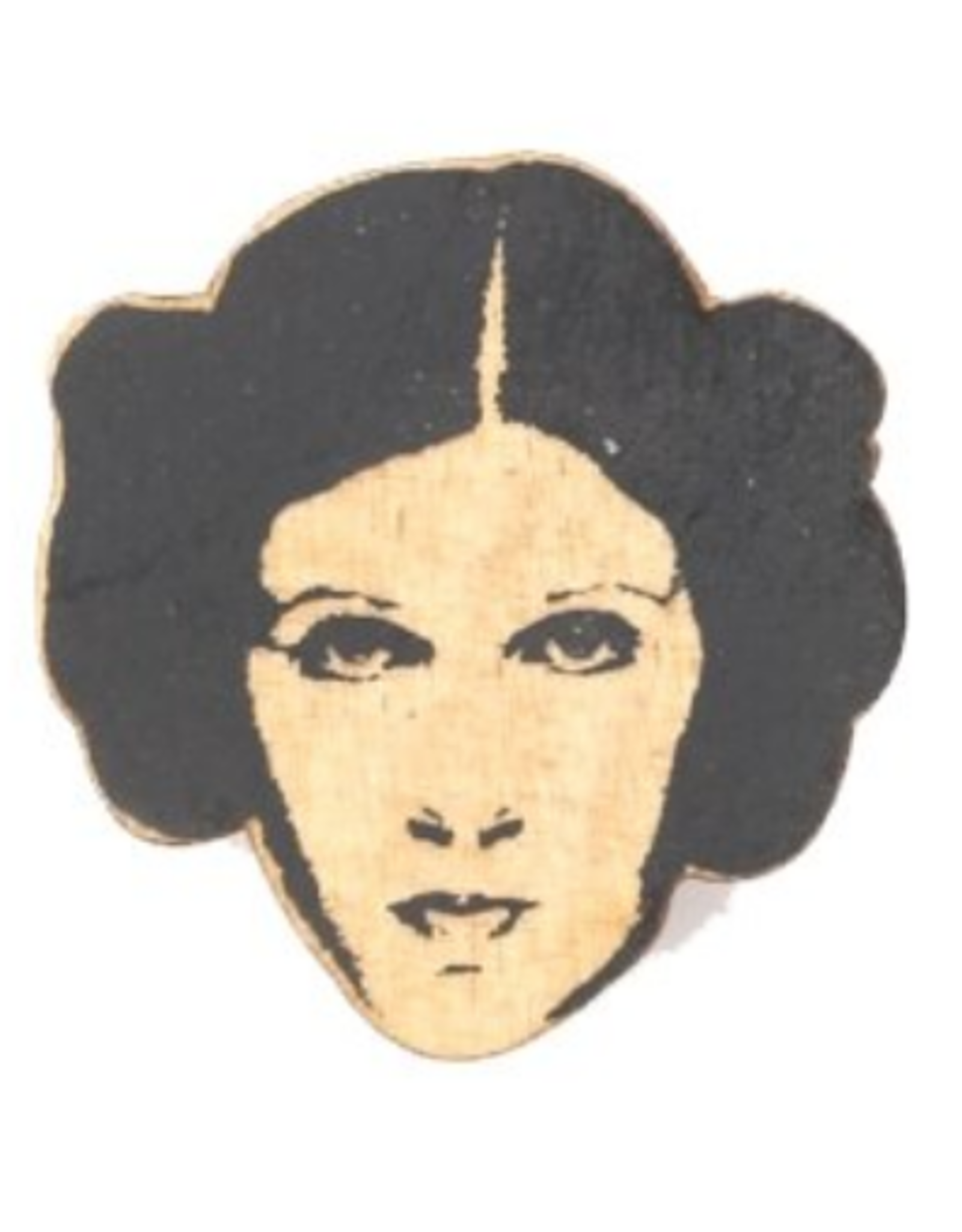 Carrie Fisher Wooden Pin