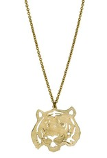 Tiger Necklace - Brass