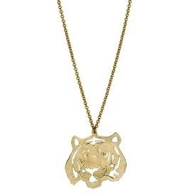 Tiger Necklace - Brass