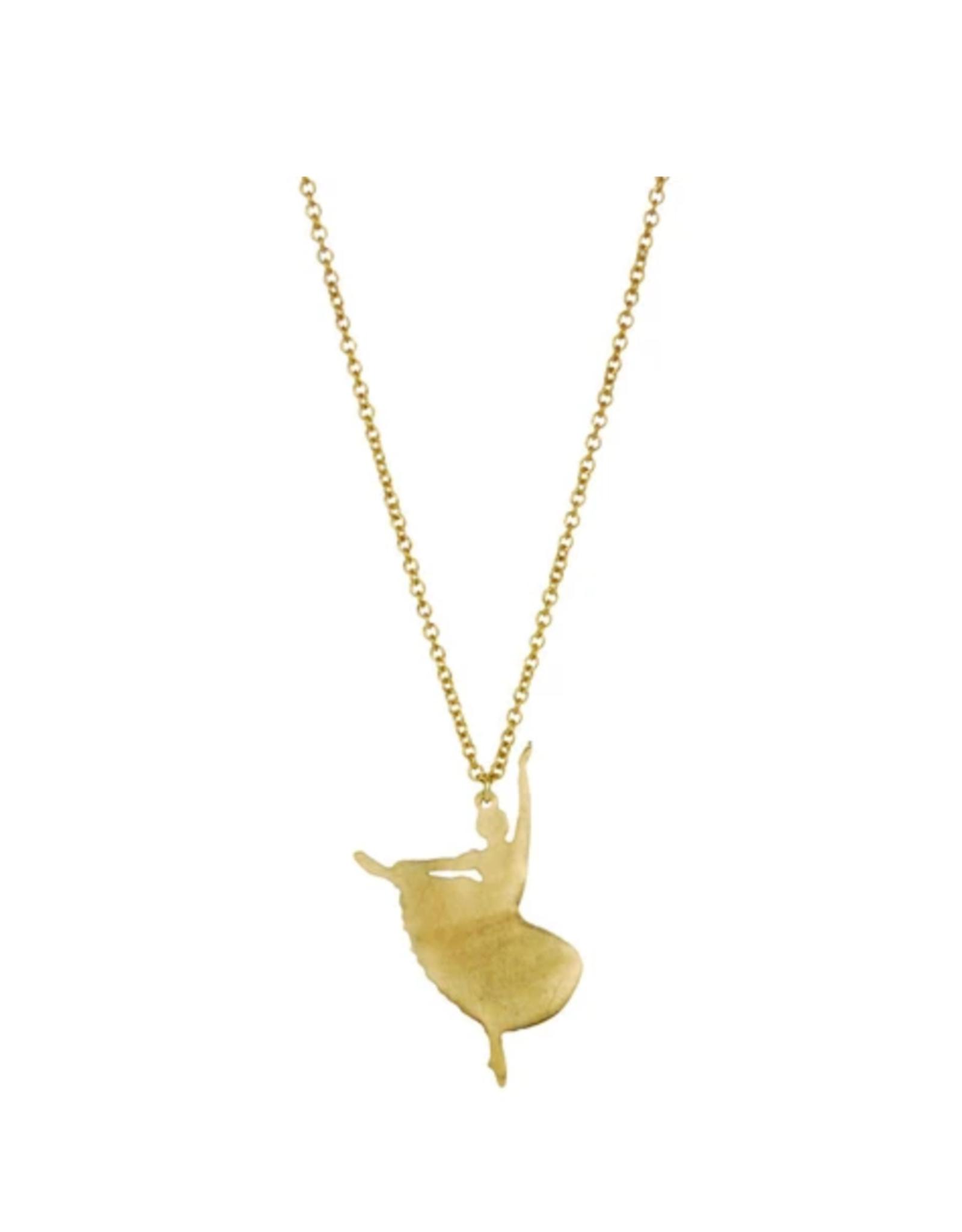 Dancer Necklace - Brass