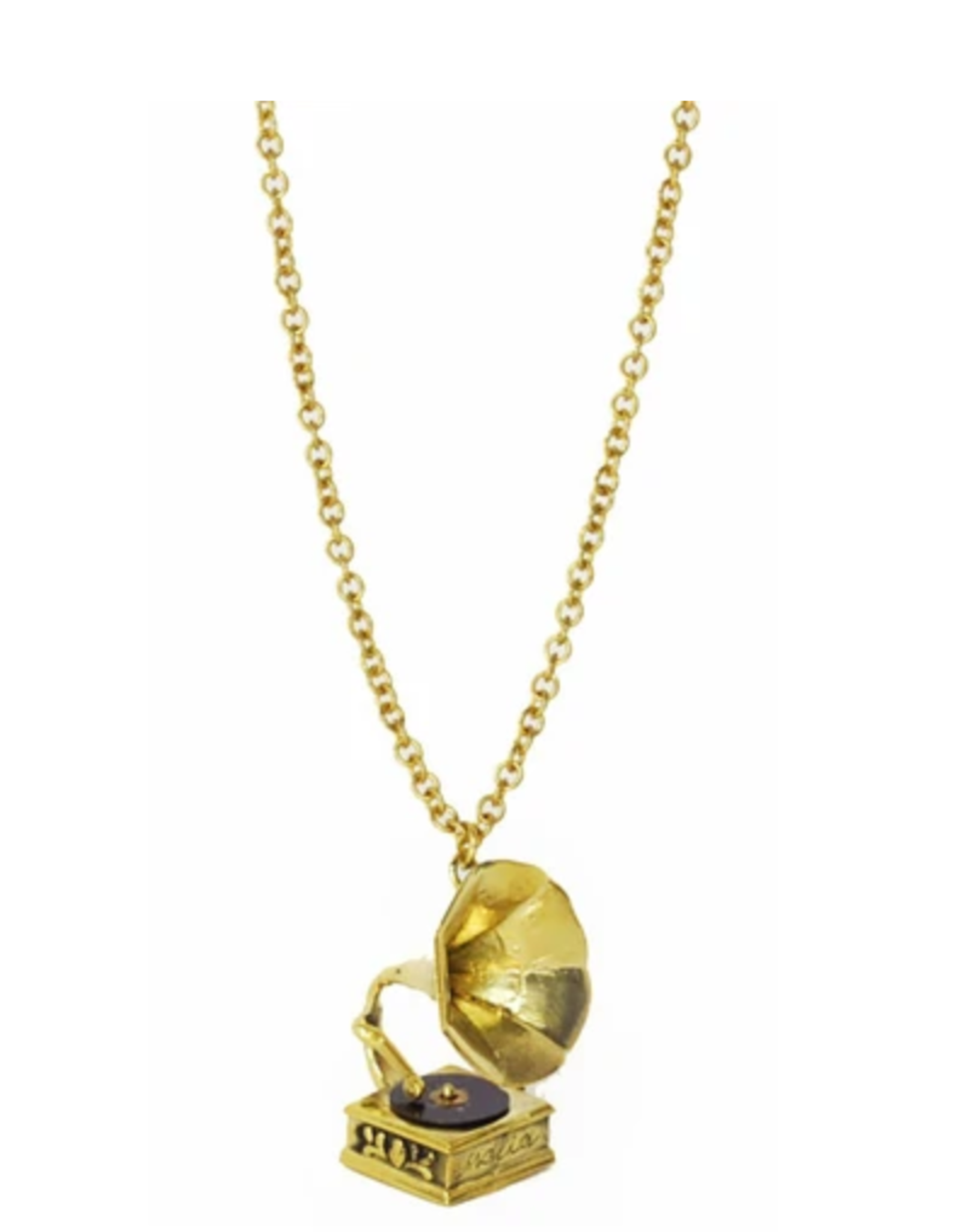 Phonograph Necklace - Brass