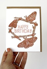 Happy Birthday (Moths) Greeting Card