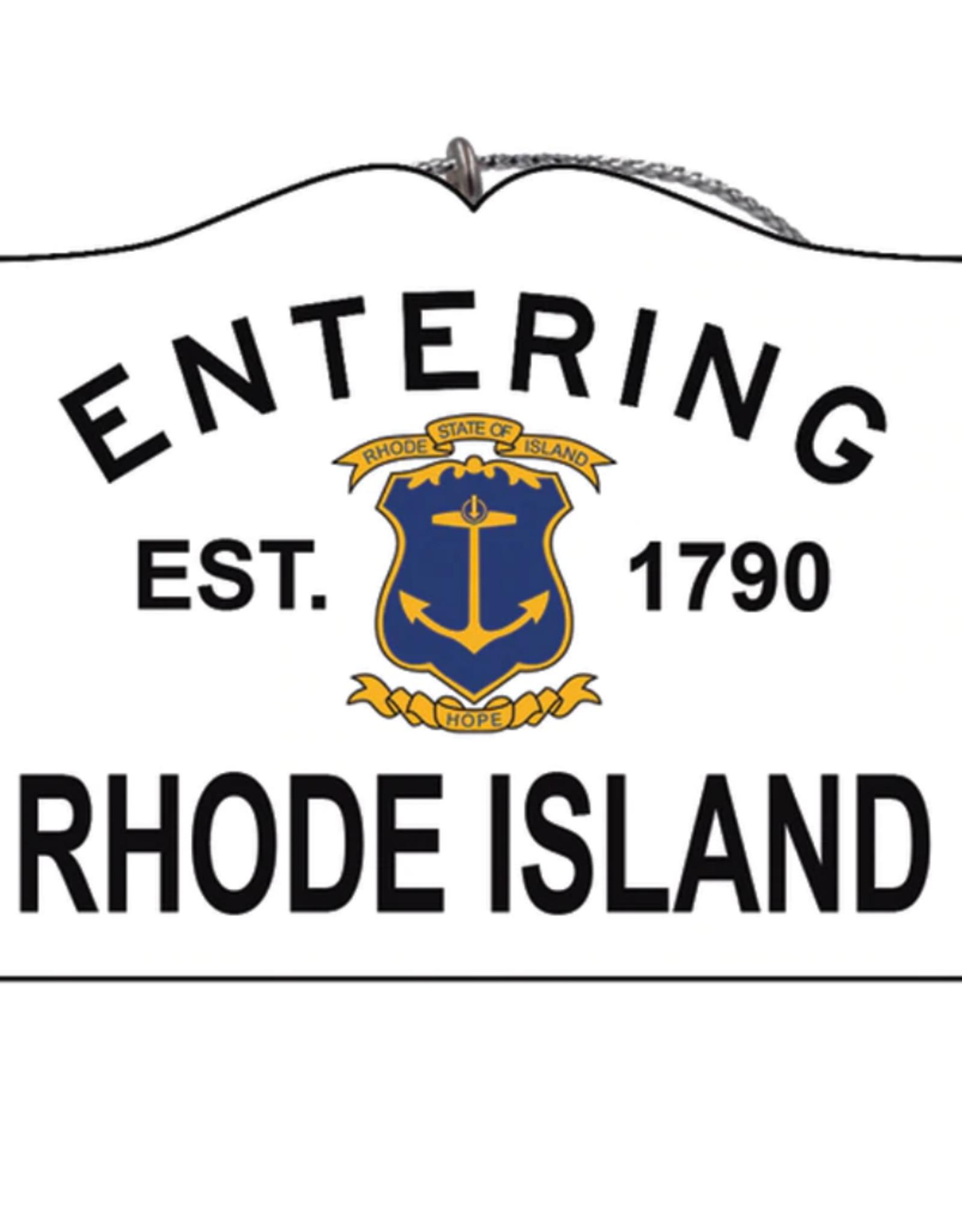 Entering Rhode Island Ornament