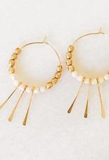 Paddle Hoop Earrings