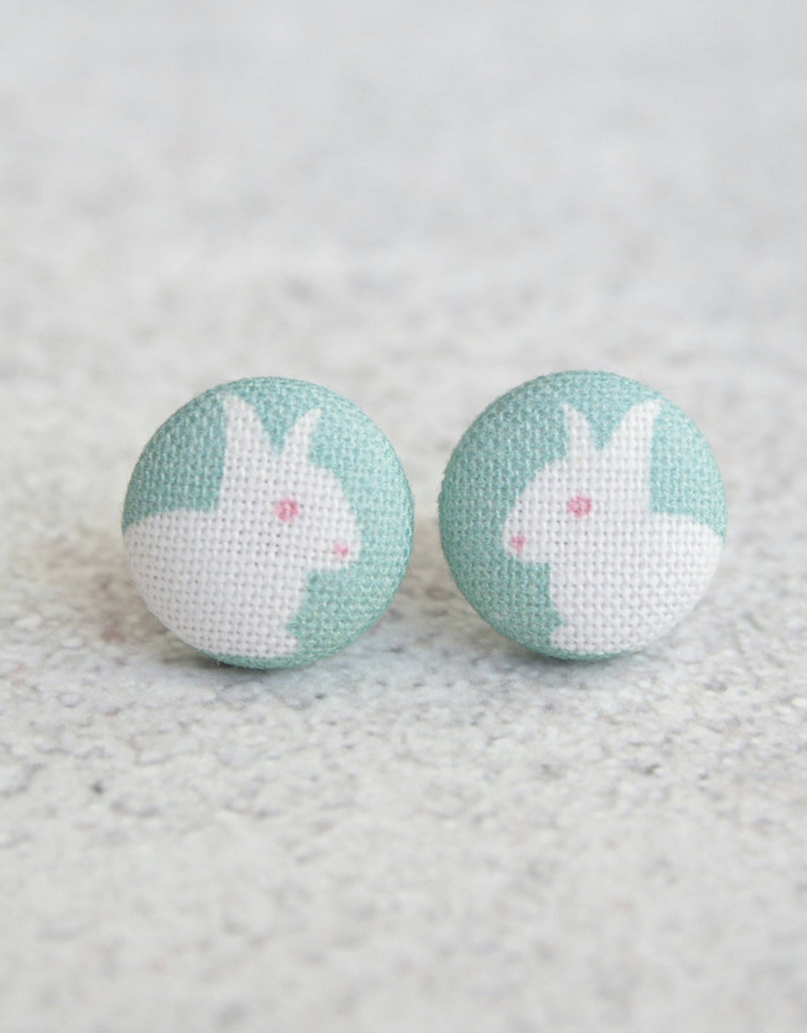Pastel Bunny Button Earrings