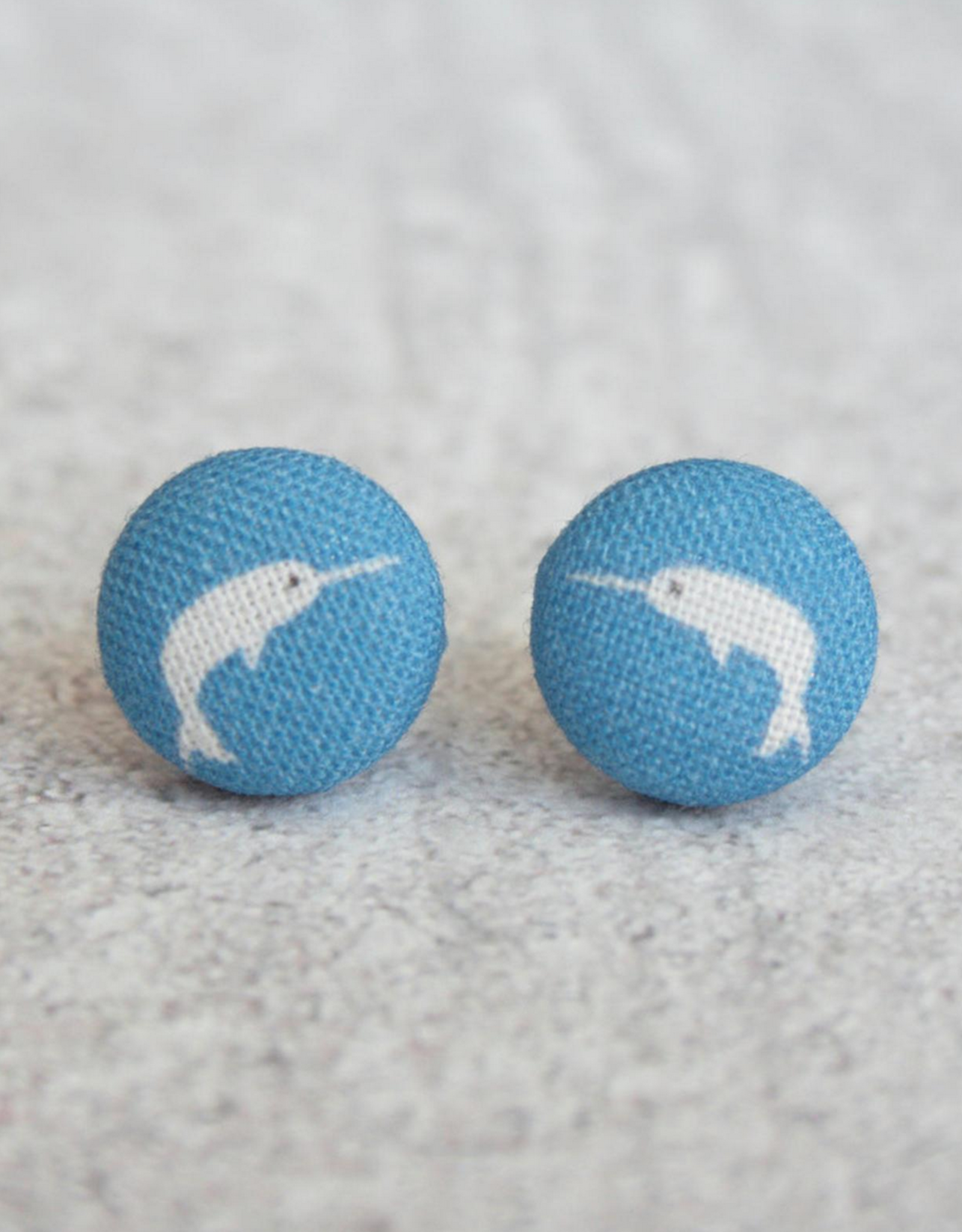 Narwhal Button Earrings