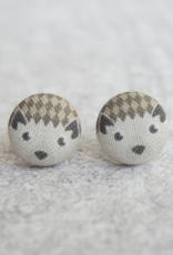 Hedgehog Button Earrings