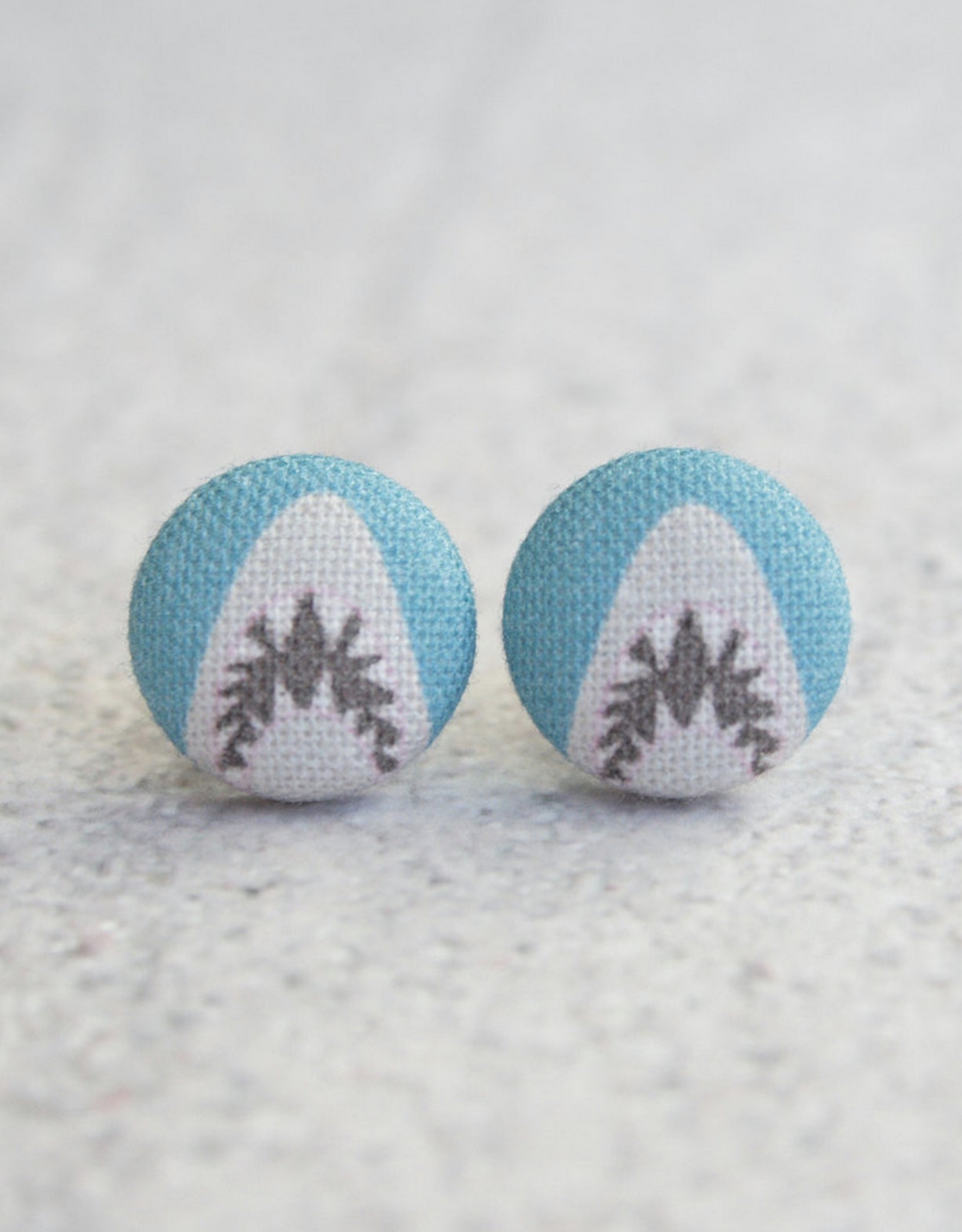 Shark Attack Button Earrings