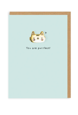 You Are Purrfect Cat Enamel Pin Greeting Card