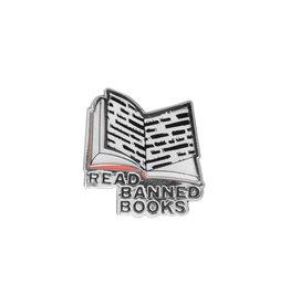 Read Banned Books Enamel Pin