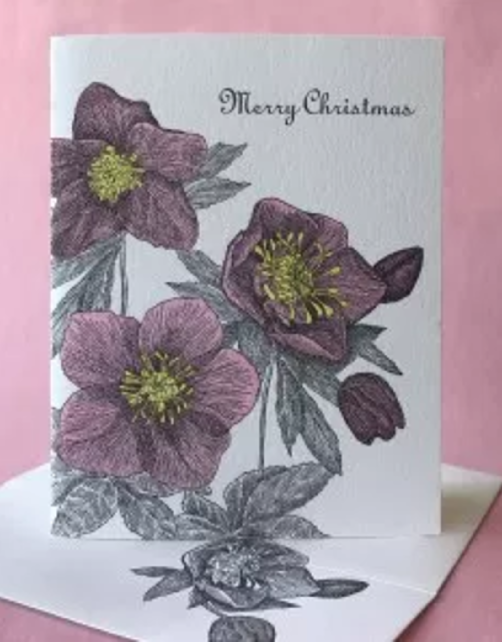 Merry Christmas Rose Greeting Card
