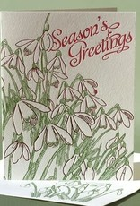 Season's Greetings Snowdrop Card